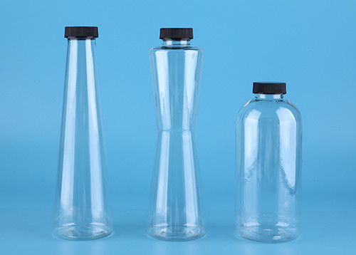 PET Material 400ml Clear Juice Bottles with SGS Univesal Audit
